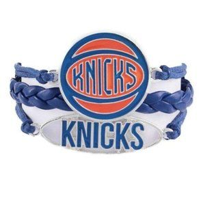 NY Knicks NBA Tri Braid Pendant Bracelet New